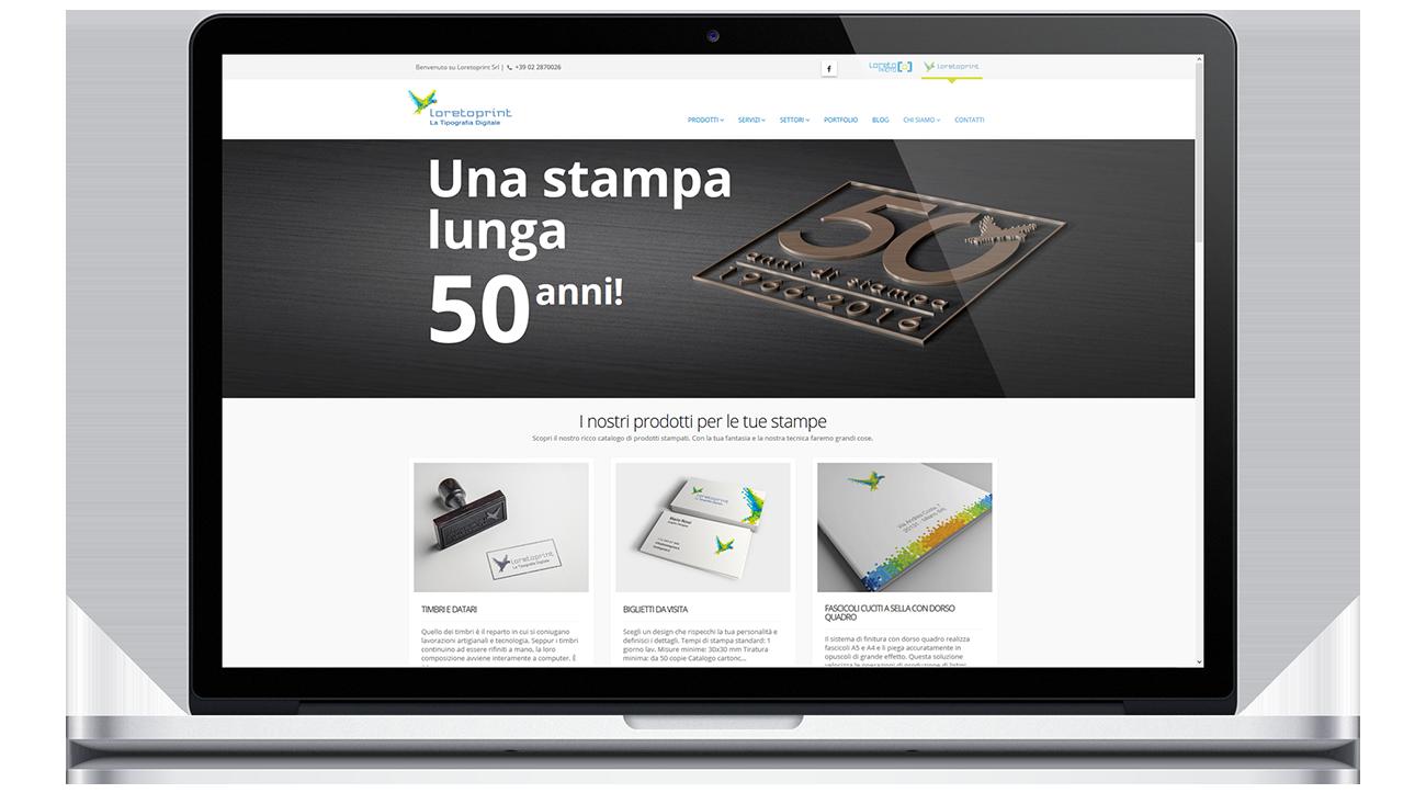 Loretoprint website redesign