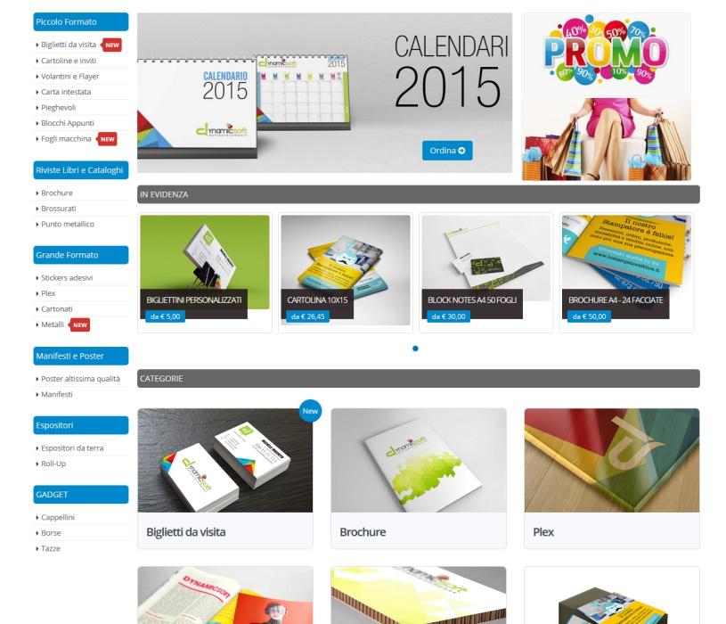 web to print per la stampa - template uno
