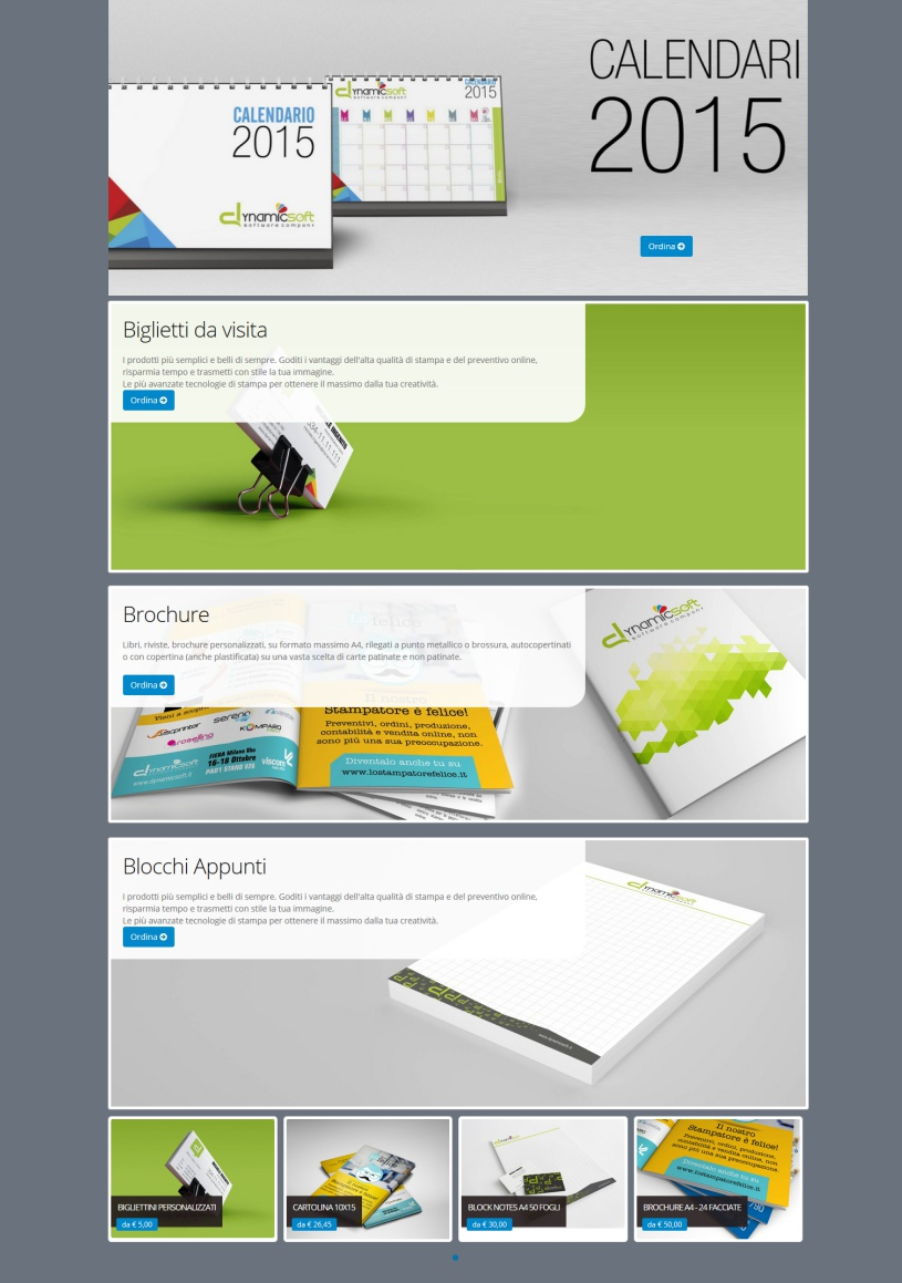web to print per la stampa - template due