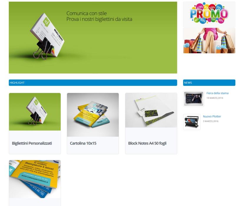 web to print per la stampa - template tre