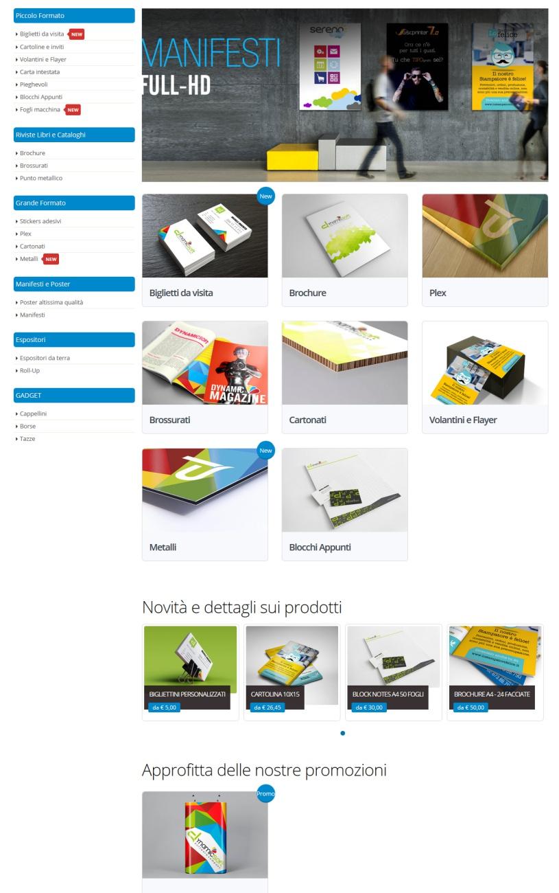 web to print per la stampa - template sei