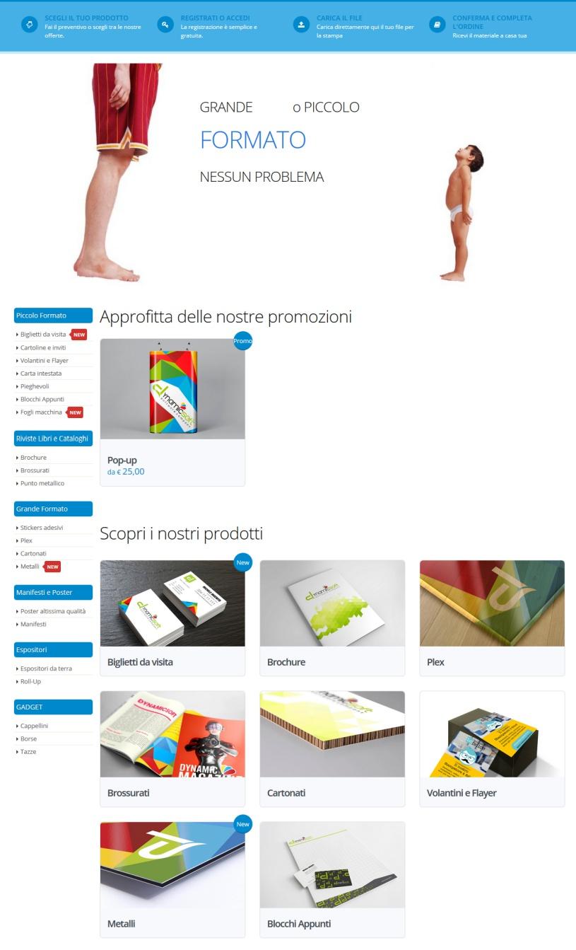 web to print per la stampa - template sette